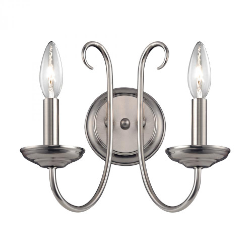 Williamsport 2 Light Wall Sconce In Brushed Nickel 1502WS/20