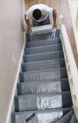 Stair Carpet Floor Protection - Self-adhesive temporary floor roll cover