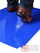 Sticky Tack-Mat Floor Protection (30 Sheets per Pack) - Adhesive Entrance & Door Dust Sheets - 60cm x 90cm