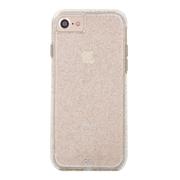 Case-Mate Sheer Glam Case iPhone 7/6/6S - Champagne/Clear Bumper