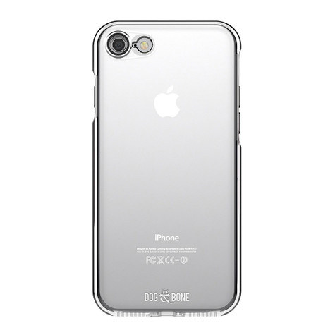 Dog & Bone Splash Drop Proof Case iPhone 7 - Black