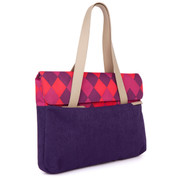 "STM Grace 13"" Deluxe Laptop Sleeve - Purple Diamonds"