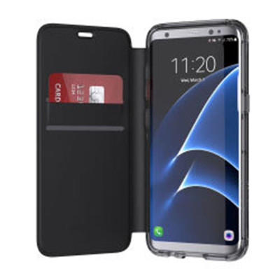 Griffin Survivor Wallet Case Samsung Galaxy S8+ Plus - Clear/Black