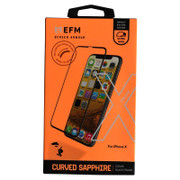 EFM Curved Sapphire Glass Screen Armour iPhone X - Clear/Black