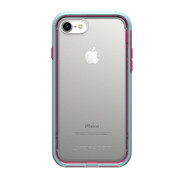 LifeProof SLAM Case iPhone 8 - Clear/Blue/Magenta