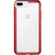 Pelican ADVENTURER Case iPhone 8+ Plus - Clear/Metallic Red