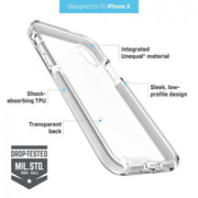 BodyGuardz Ace Pro Unequal Case iPhone X - Clear/Grey