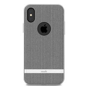 Moshi Vesta Case iPhone X - Herringbone Grey
