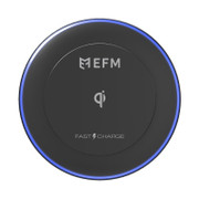 EFM Qi Certified 10w Wireless Charge Pad - Black