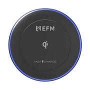 EFM Qi Certified 10w Wireless Charge Pad - Black