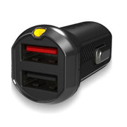 EFM Car Chgr 3.4A Dual USB Rapid Charge NO CABLE - Black