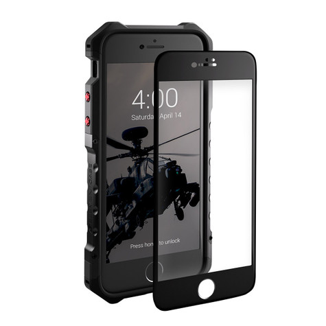 Element Tempered Glass Screen Protector iPhone 8+/7+ Plus - Black Frame