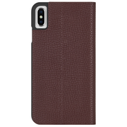 Case-Mate Barely There Folio Case iPhone Xs Max - Brown