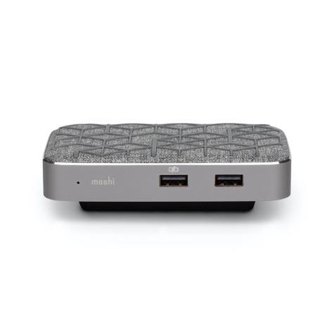 Moshi Symbus Q USB-C Dock & Qi Charger - Grey