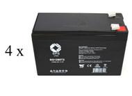 High capacity battery set for Alpha Tech ALI Elite 2000XL RM UPS