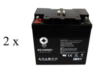 Quickie G424 Group 22NF Wheelchair  battery set
