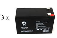 UB1280 Exide Powerware PW5119 1500 UPS battery set - 14% more capacity