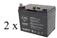 Power-Sonic PS-12330 12V 35Ah scooter battery set