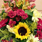 Autumn Wish (SCF17F08) Fall and Autumn flowers in a basket arrangement by Savilles Country Florist in Orchard Park, NY