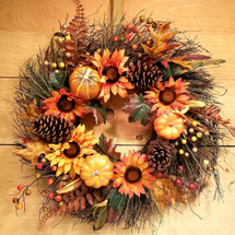 Autumn Harvest Wreath (SCF17F10) artificial wreath  from Savilles Country Florist in Orchard Park, NY