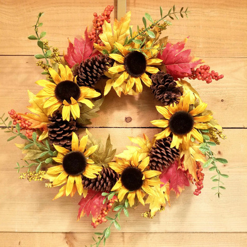 Shades of Autumn Wreath (SCF17F15) artificial wreath  from Savilles Country Florist in Orchard Park, NY