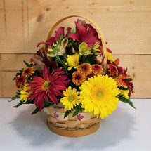 Autumn Comfort (SCF17F21) Fall, Autumn, Thanksgiving Centerpieces and Flower arrangements from Savilles Country Florist with same day delivery to Buffalo, NY and the surrounding suburbs including Orchard Park, Hamburg, West Seneca, East Aurora, Blasdell