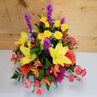 Autumn Sunset (SCF17F26) Fall, Autumn, Thanksgiving Centerpieces and Flower arrangements from Savilles Country Florist with same day delivery to Buffalo, NY and the surrounding suburbs including Orchard Park, Hamburg, West Seneca, East Aurora, Blasdell