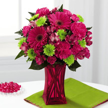 Raspberry Sensation Bouquet by Savilles Country Florist. Flower delivery to Orchard Park, Hamburg, West Seneca, East Aurora, Buffalo, NY and surrounding suburbs.