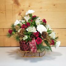 The Christmas Sleigh Basket (SCF17C23)