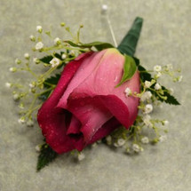 Boutonniere with Hot Pink Rose