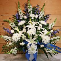 Blue & White Sympathy Arrangement (SCF1120)