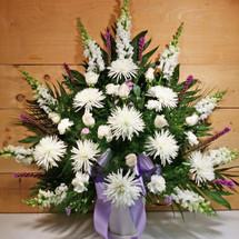 Lavender & White Sympathy Arrangement (SCF1140)