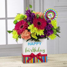 Birthday Brights Bouquet by Savilles Country Florist. Flower delivery to Orchard Park, Hamburg, West Seneca, East Aurora, Buffalo, NY and surrounding suburbs.