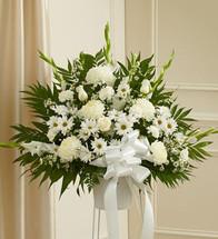Heartfelt Sympathies White Arrangement (91272)