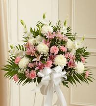 Heartfelt Sympathies Pink & White Arrangement (91265)