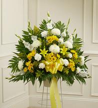 Heartfelt Sympathies Yellow Arrangement (91263)