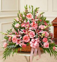 Pink Fireside Basket (91201)