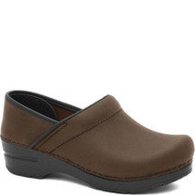 Dansko Professional Oiled Antique Brown Leather Clogs