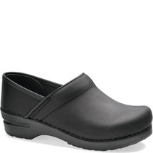 Dansko Professional Black Oiled Leather Clogs