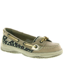 Sperry Kid's Angelfish Gold Metallic Leopard Boat Shoes