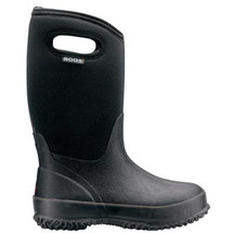 Bogs Kid's Classic High Handle Black Boots
