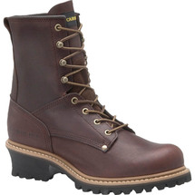 "Carolina 1821 8"" Briar Steel Toe Unlined Logger Boots"