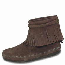 Minnetonka Boots Back Zip Dusty Brown