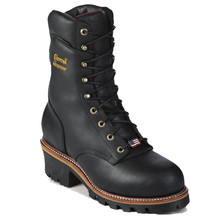 Chippewa 25411 USA Soft Toe Non-Insulated Black Super Logger