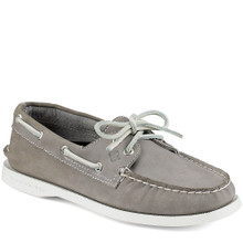 Sperry Women's Authentic Original 2 Eye Boat Shoe Grey