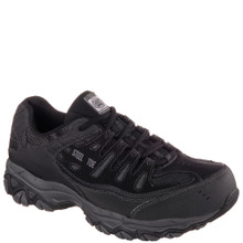 Skechers Relaxed Fit Crankton Steel Toe Work Shoes 77055