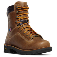 """Danner 17317 Quarry USA 8"""" Distressed Brown Alloy Toe"""