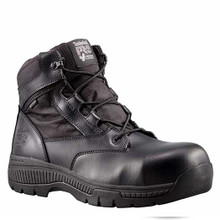 """Timberland Pro Valor 6"""" Tactical Police Duty Boots CT WP Side Zipper"""