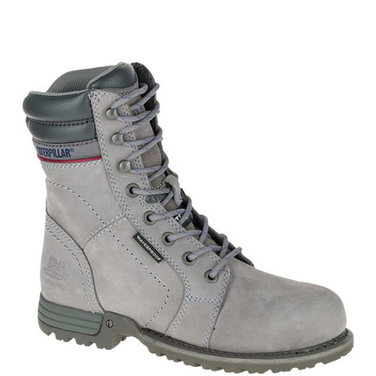 CAT Women's Grey Echo Waterproof Steel Toe Work Boots