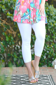 So Very Luxe Capri Legging - White